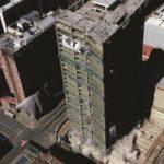Implosion of the Bank of Lisbon building in Johannesburg on Sunday 24 November 2019